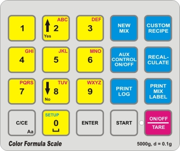 Elane Print Manager Color Formula Scale Keyboard Layout